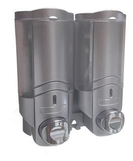 Dispenser Doble Pared Jabon Shampoo Crema 300ml X2