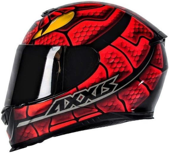 Capacete Moto Axxis Eagle Snake Vermelho Motociclista Motoqueiro