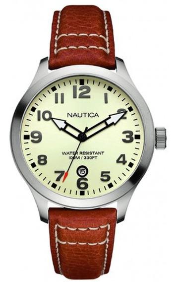 Relógio Nautica A09560g / N17616g - Pulseira De Couro