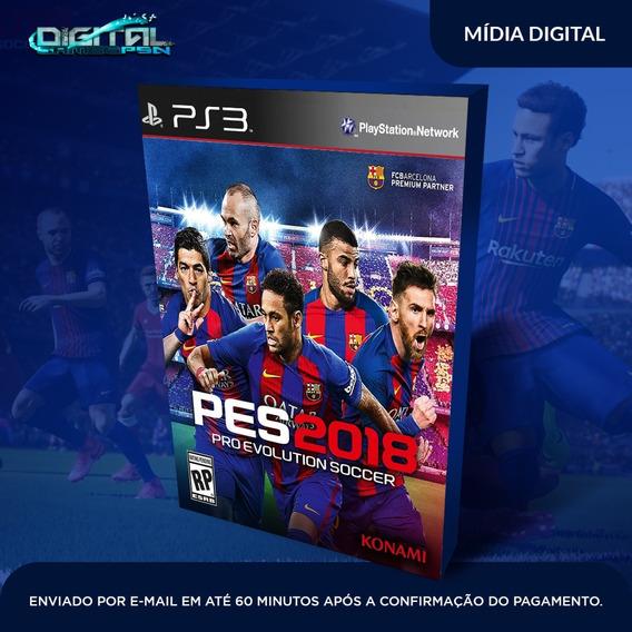 Pro Evolution Soccer 2018 Pes Ps3 Midia Digital Em 10 Min!