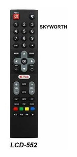 Control Remoto Smart Tv Lcd Led Reemplazo Para Skyworth 552