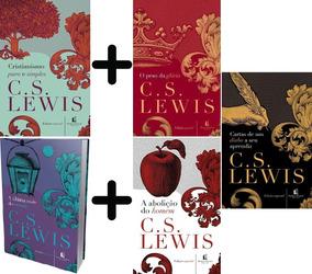 5 Livros C S Lewis: Cartas; Peso Glória; Cristianismo Puro;