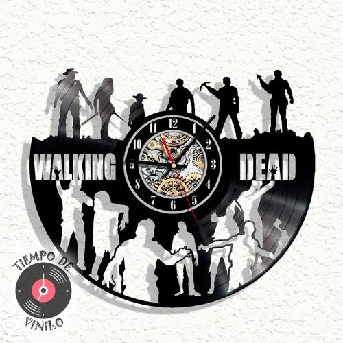 Reloj De Pared Elaborado En Disco Lp The Walking Dead Ref.01