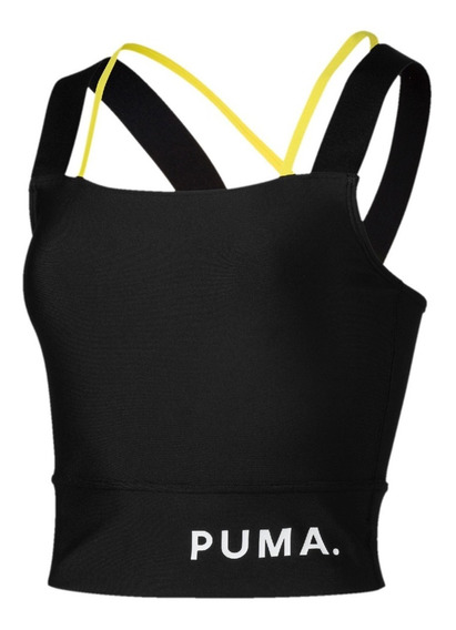 Puma Top Running Mujer Chase Crop Negro