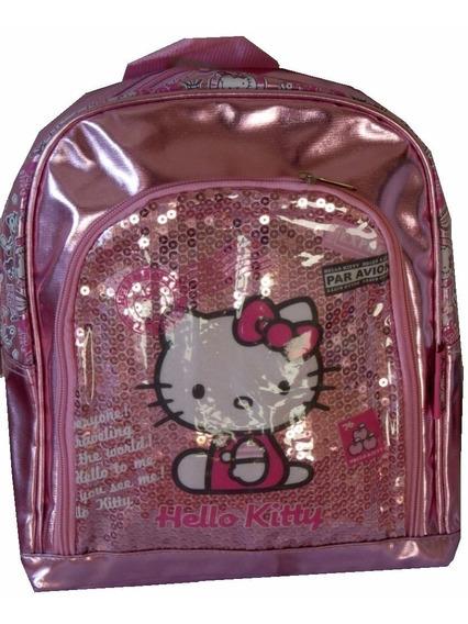 Mochila Jardin Hello Kitty Con Lentejuelas Soñada V. Crespo