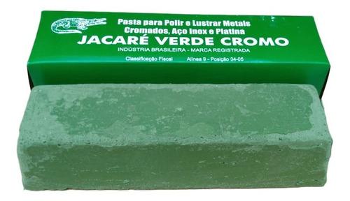 Pasta Massa Jacaré Verde Cromo 400 Gramas Afiação Facas Polimento Peças Cromadas Jóia Ouro Peças Moto  Moto