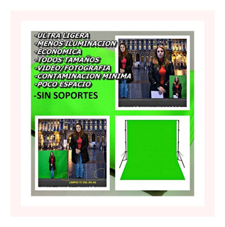 Fondo Verde Chroma Key/ Green Screen De Tela De 2 X1.5 Mts