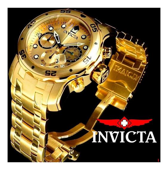Relógio Invicta Masculino Pro Diver 0074 Scuba Banhado Ouro 18k Original 1 Ano Garantia Nota Fiscal Frete Grátis Oferta
