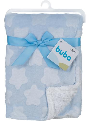Imagem 1 de 5 de Mantinha Para Bebê Star Azul Buba 13228