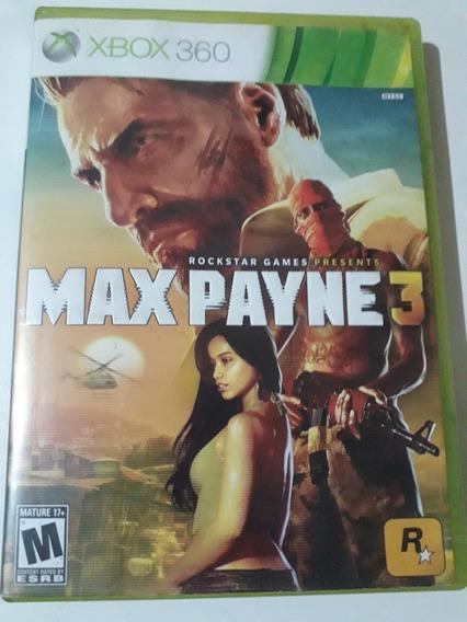 Max Payne 3 Xbox 360 Mídia Física