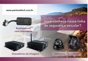 Kit Dvr Veicular 4 Canais Ahd ,3g/4g+gps+3 Câmeras Completo