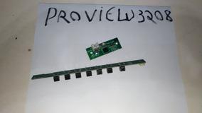 Teclado E Sensor Do Remoto Tv Proview 3208