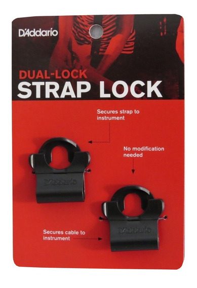Trava De Correia Strap Lock Dual Lock Planet Waves Daddario