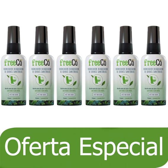 Kit 6x60ml Freecô Original Odorizadores Sanitários Spray