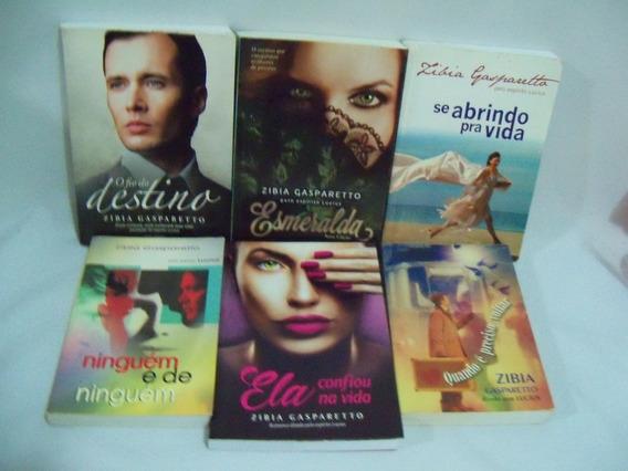 Lote Livros 1- Zibia Gasparetto Vários Títulos Seis Volumes