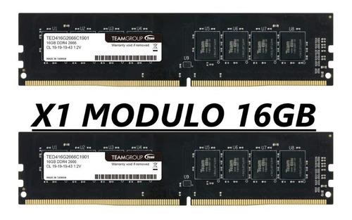 Memoria Ram Para Pc Mesa Elite Teamgroup 16gb Ddr4 2666 Mhz