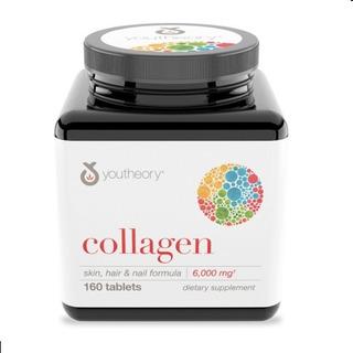 Colágeno Skin,hair & Nail Vita C Youtheory 160 Cáps 6.000mg
