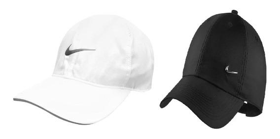 Bone Nike Kit Com 2 Bones Branco Preto Featherlight Original