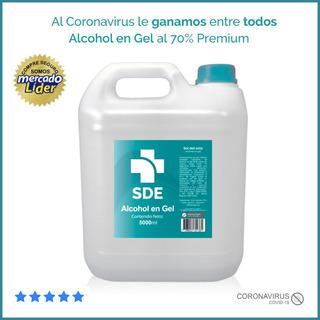 Alcohol En Gel 5 Litros Premium Antibacterial Aprobado Anmat