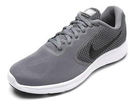 Nike Revolution 3 Cinza/branco - 819300