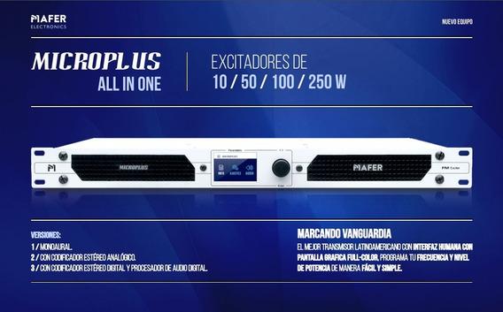 Transmisor Fm Microplus 10w Full Estereo, Procesado Y Rds
