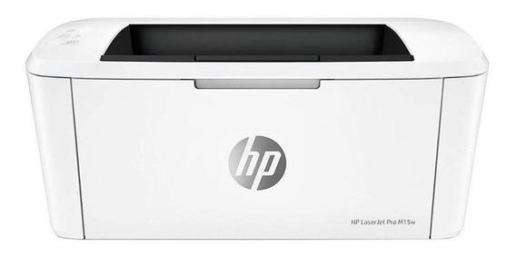 Impressora HP LaserJet Pro M15W com Wi-Fi 110V/220V branca
