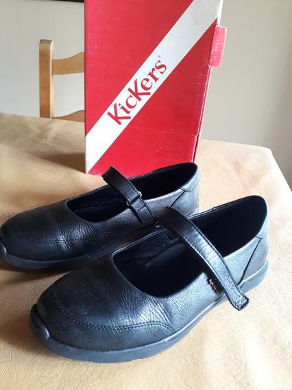 Zapatos Kickers Guillermina Colegial Seal 39, Muy Poco Uso