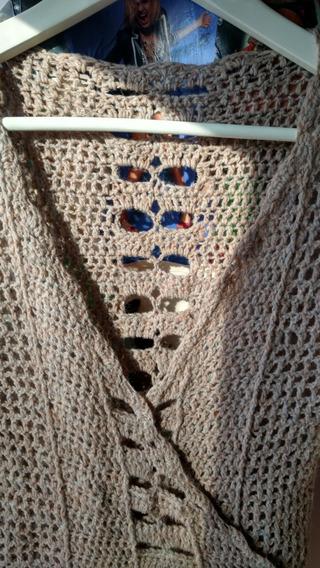 Saquito Tejido A Mano Cache Coeur Crochet T. M Liquidación!