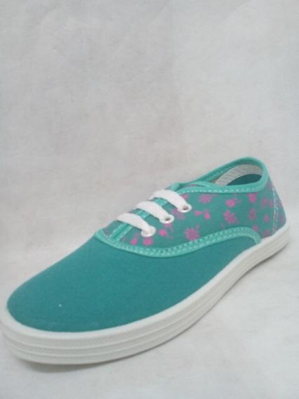 Zapatillas Lona Con Cordón 25 Al 34 Sk Varios Colores