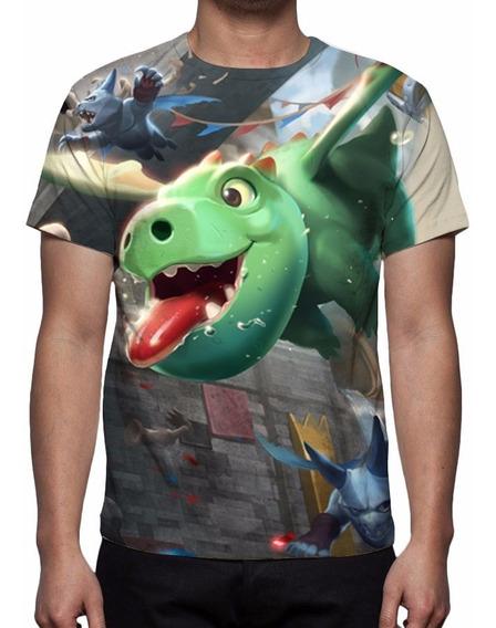 Camiseta, Camisa Clash Royale - Dragão Bebê
