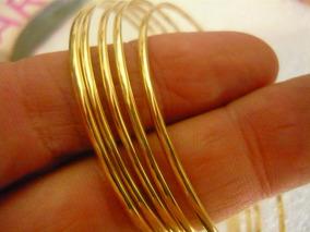Bracelete De Argola Ouro Feminino 4gr 18k Uma Unid