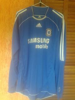 Camisa Chelsea adidas #11 Drogba Manga Longa