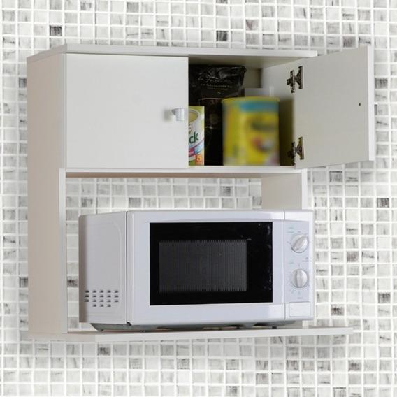 Alacena Porta Microondas Organizador 2 Puertas Mcr 060