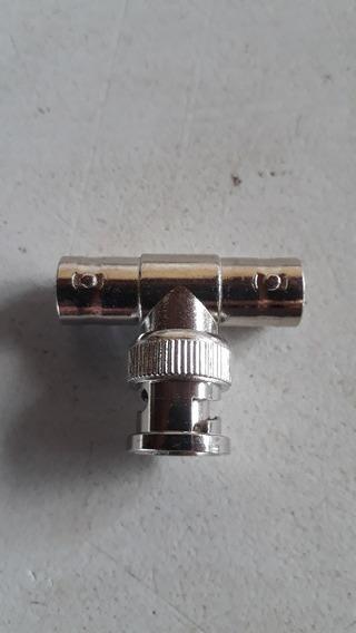Conector Emenda Bnc Tipo T 3 Fêmeas 10 Unidades