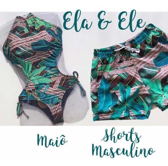 Maiô & Shorts Masculino Ela & Ele