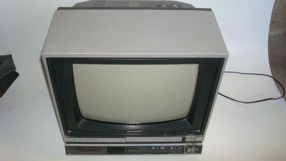 Televisor Sharp 14 Polegadas Modelo C-1430a, Anos 80