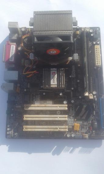 Kit Placa Mãe + Processador 478 + Memória 2gb (enviando)