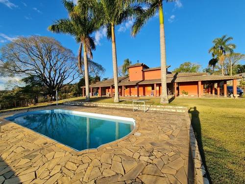 Imagem 1 de 30 de Linda Chácara Com 5 Dormitórios, Piscina, Jardim E Horta,  À Venda, 2900 M² Por R$ 580.000 - Zona Rural - Pinhalzinho/sp - Ch0879