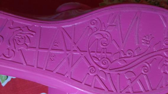 Sapatilha Plástica Rosa Tam 31-32 Pra Gatinha