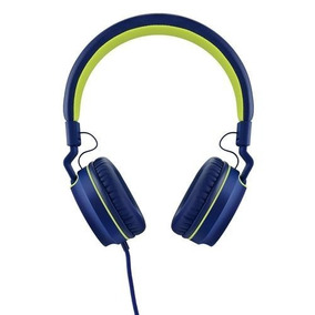 Headphone Fone C/ Microfone Multilaser Ph162 Azul E Verde