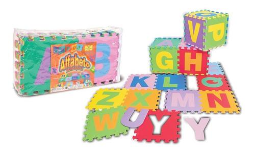 Imagem 1 de 2 de Tapete Eva Infantil Alfabeto 26 Letras Grandes Nig