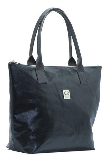 Bolso De Eco Cuero Color Negro