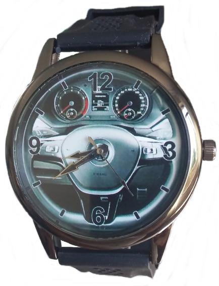 Relógio Pulso Personalizado Foto Volante Painel Saveiro Vw