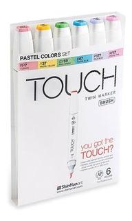 Marcadores Set Brush Touch Pasteles #616 Arte Dibujo Nuevos