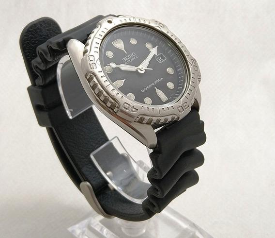 Relógio Seiko Diver 7002-7020 07-1995 Preto Perfeito Funcion