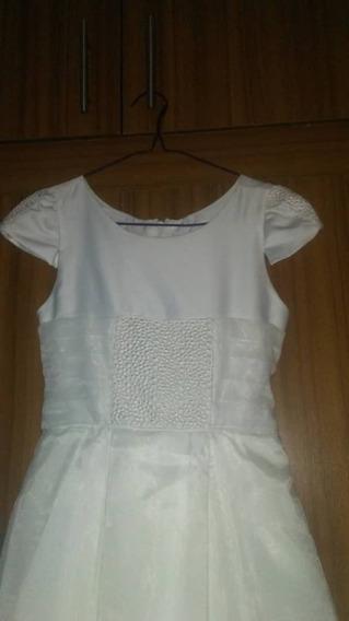 Vestido Blanco Para Primera Comunión Talla 14