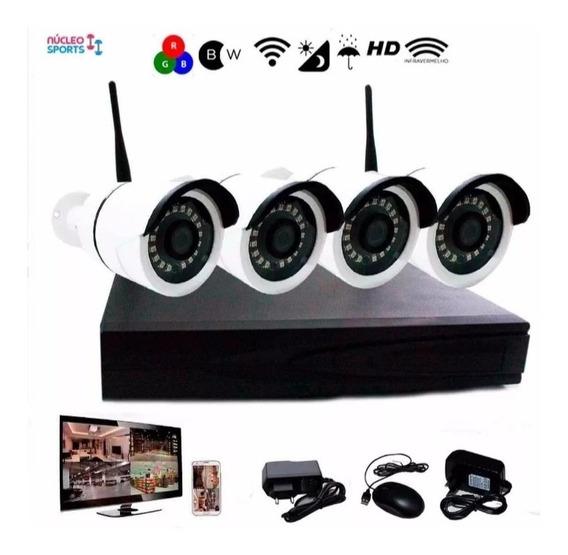 Kit Nvr Wireless 4 Câmeras