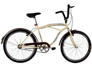 Bicicleta Aro 26 Masculina Beach Retro Vintage Rodas Aero