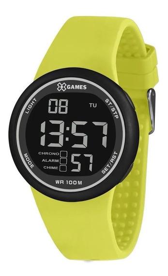 Relógio X-games Masculino Digital Leve Xmppd613 Pxfx Amarelo