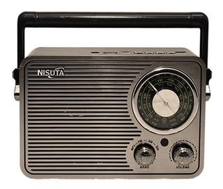 Parlante Retro Nisuta Am/fm Bluetooth Vintage Nsrv19 Noaweb